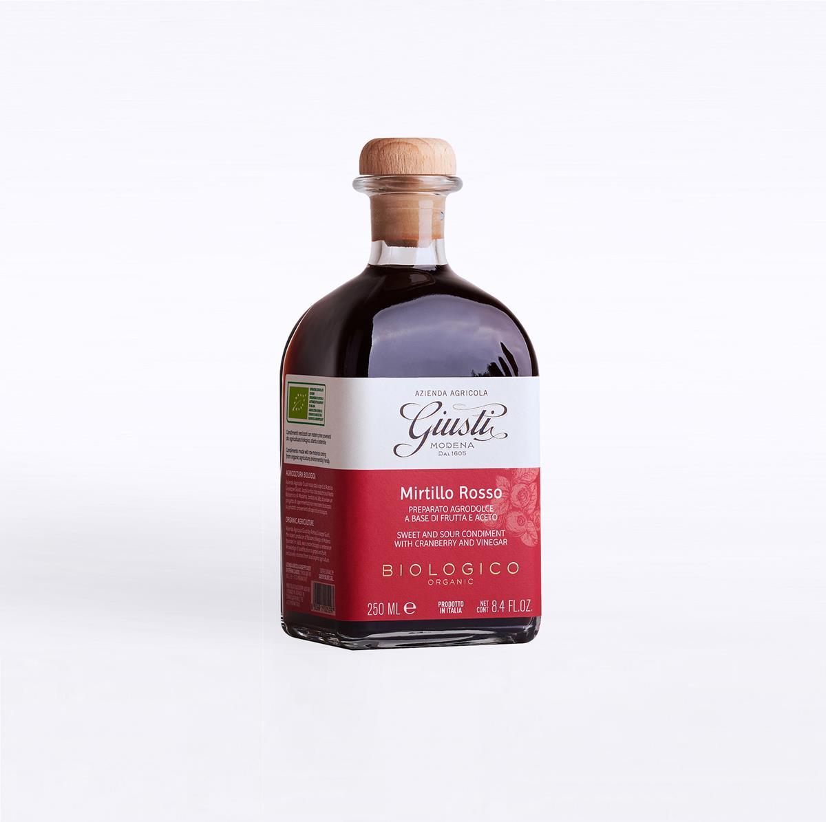 Agrodolci a base di frutta e aceto - Biologico - Mirtillo Rosso 250 ml