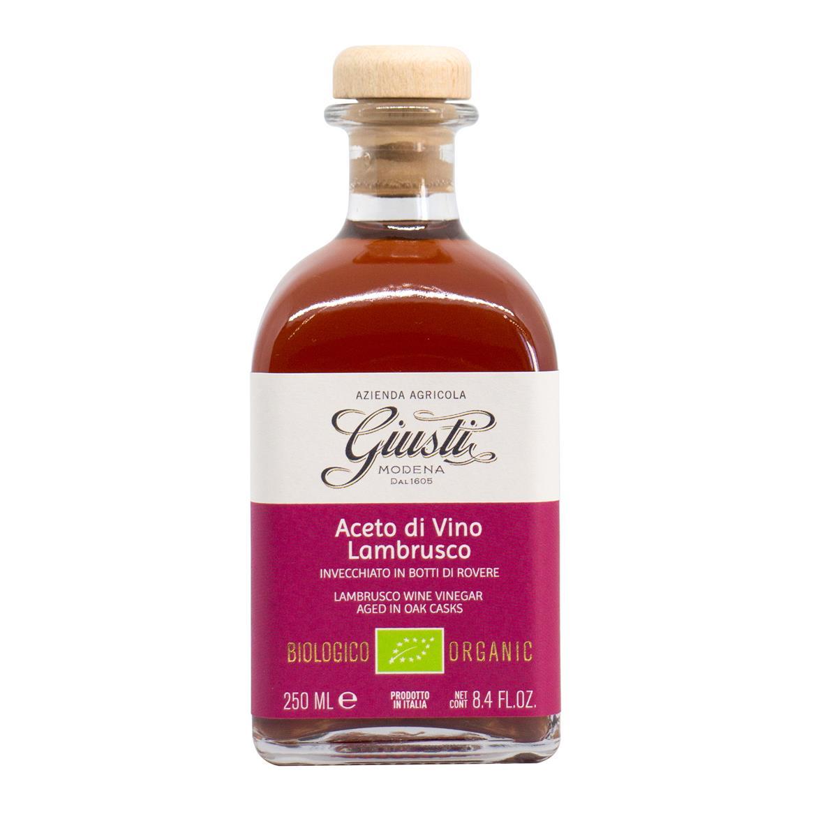 Aceto di vino rosso Biologico Monovitigno - Lambrusco 250 ml