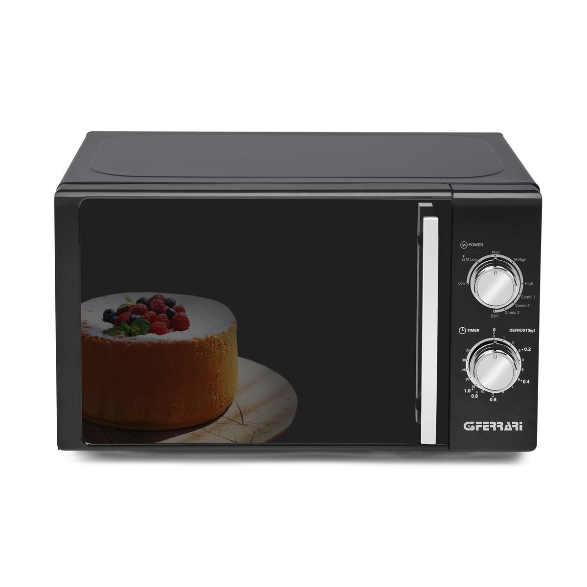 ALLBLACK - Combined Microwave Oven 20 Liters Black Mirror 700 + 1000 W