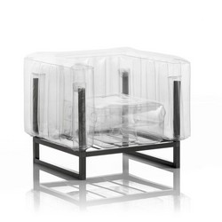 Mojow Inflatable Armchair with Metal Structure - YOMI Line - Transparent