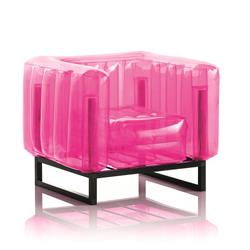 Mojow Inflatable Armchair with Metal Structure - YOMI Line - Pink