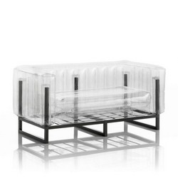 Inflatable Sofa with Metal Structure - Sofa YOMI Line - Transparent