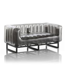 Mojow Inflatable Sofa with Metal Structure - Sofa YOMI Line - Black