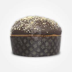 A' Ricchigia - Homemade Panettone Covered with Chocolate and Grain Hazelnuts - 750 gr