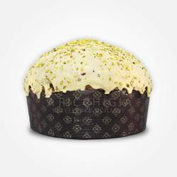 A' Ricchigia - Homemade Panettone Covered with Chocolate and Grain Pistachios - 750 gr