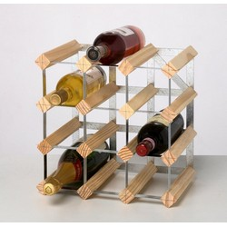 Trabo Rta From Samuel Groves - Pine wood and galvanized steel wine cellar for 12 bottles