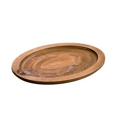 LODGE Oval-shaped Wood Underliner Wallnut Stain - Dimensions: 29.95 x 22.7 x 1.75 c