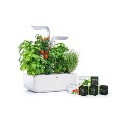 VERITABLE SMART Garden White - Autoadjustment LED based on Ambient Light - Kit of 4 Seeds Included