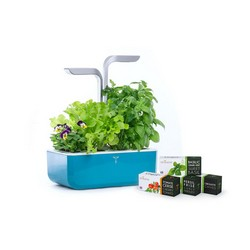 VERITABLE SMART Garden Light Blue - Autoadjustment LED based on Ambient Light - Kit of 4 Seeds Included