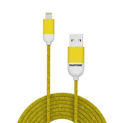PANTONE™ Lightning Cable For iPhone - 2,4A - Rubber Cable - Yellow