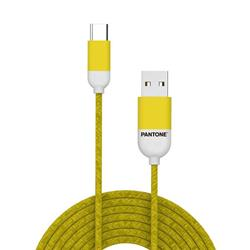 PANTONE™ USB-C Cable - 3A - 1 Meter - Rubber Cable - Yellow