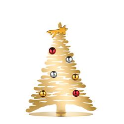 Alessi-Bark for Christmas Decoration in gilded steel with porcelain magnets