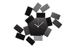 Alessi-La Stanza dello Scirocco Wall clock in steel and resin, black