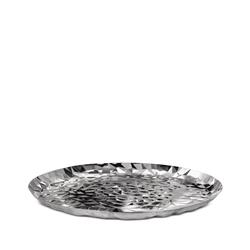 Alessi-Joy n 3 Round tray in 18/10 stainless steel mirror polished