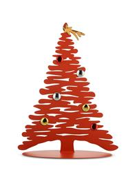 Alessi-Bark for Christmas Christmas decoration in colored steel and resin, red with porcelain magnet