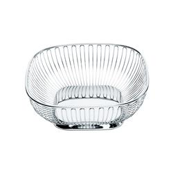 Alessi-Square wire basket in 18/10 stainless steel