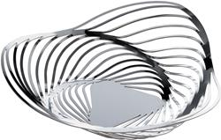 Alessi-Trinity Basket in 18/10 stainless steel
