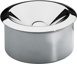 Alessi-Ashtray with two elements in polished steel