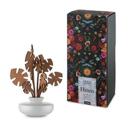 Alessi-Hmm Leaf diffuser for room in porcelain and mahogany wood