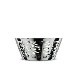 Alessi-Ethno Round perforated basket in 18/10 stainless steel
