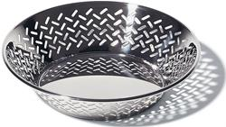 Alessi-Round perforated basket in 18/10 stainless steel