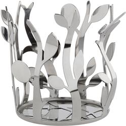 Alessi-Oliette Oil bottle holder in 18/10 stainless steel mirror polished